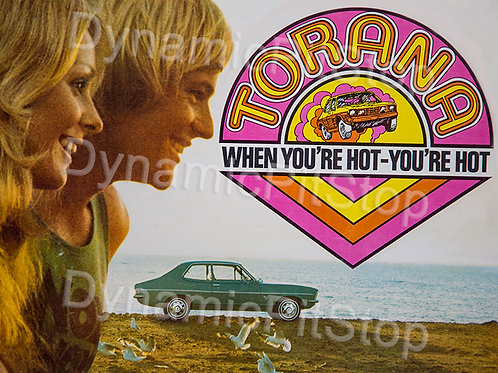 40x30cm Holden LJ Torana When You're Hot Rustic Decal or Tin Sign