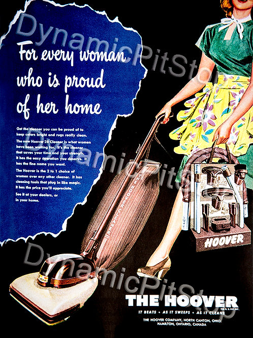 30x40cm Hoover Vacuum Decal or Tin Sign