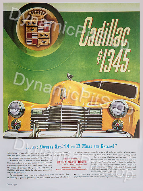 30x40cm Cadillac Vintage Ad Decal or Tin Sign