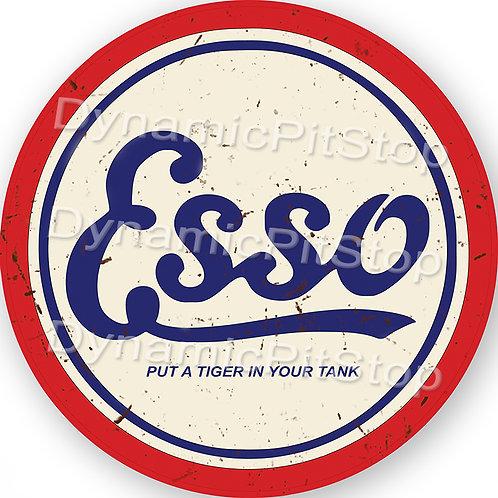 60cm Esso Logo Round Tin Sign
