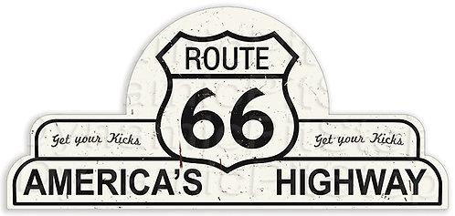 65x30cm Route 66 Shield Tin Sign