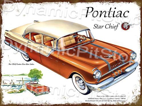 40x30cm 1955 Pontiac Rustic Decal or Tin Sign