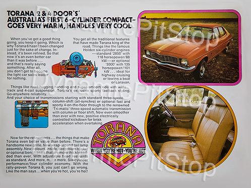 40x30cm Holden LJ Torana Decal or Tin Sign