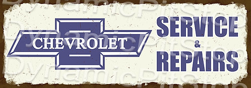 Large 99x35cm Chevrolet Logo Service Rustic Decal or Sign