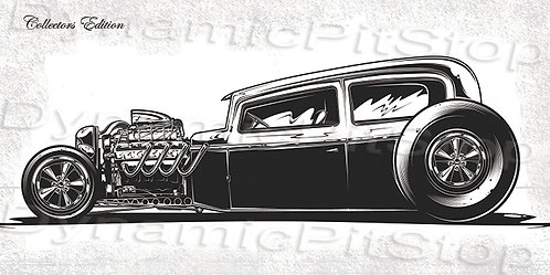 60x30cm Hot Rod Collectors Edition #5 Decal or Tin Sign