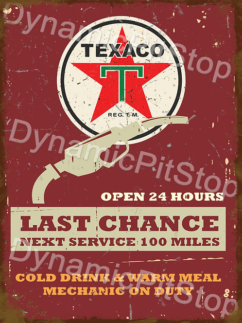 30x40cm Texaco Service Rustic Decal or Tin Sign