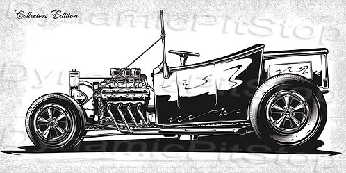 60x30cm Hot Rod Collectors Edition #1 Decal or Tin Sign
