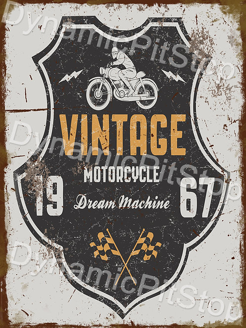 30x40cm Vintage Motorcycles Logo Rustic Decal or Tin Sign