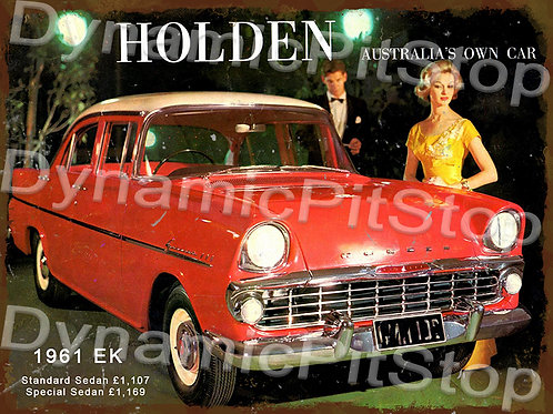 40x30cm Holden 1961 EK Rustic Decal or Tin Sign