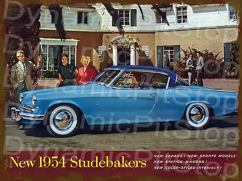 40x30cm Studebaker 1954 Rustic Decal or Tin Sign