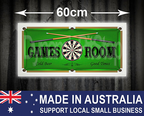 Illuminated Games Room Sign