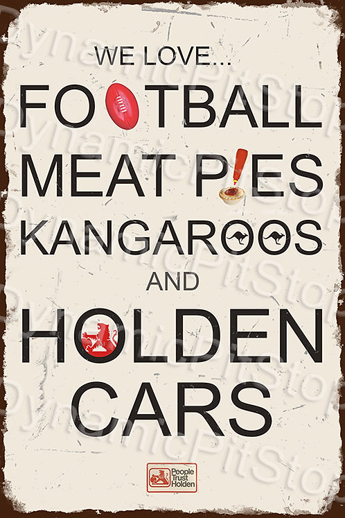 40x60cm We Love Holden Rustic Decal or Tin Sign