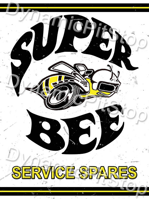 30x40cm Dodge Super Bee Logo Rustic Decal or Tin Sign