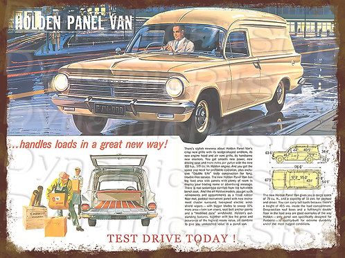 40x30cm EH Holden Van Rustic Decal or Tin Sign
