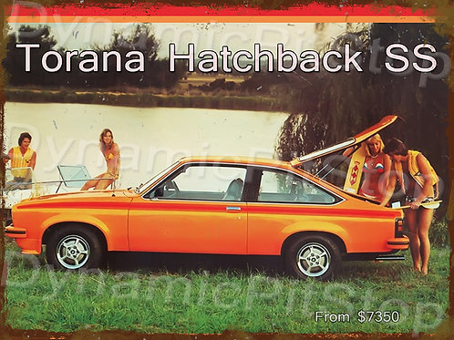 40x30cm Holden SS LH Torana Hatch Rustic Decal or Tin Sign