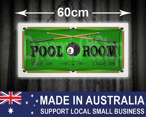Illuminated Pool Room Sign