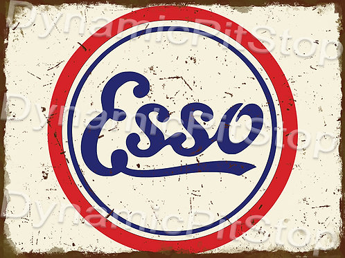 40x30cm Esso Logo Rustic Decal or Tin Sign