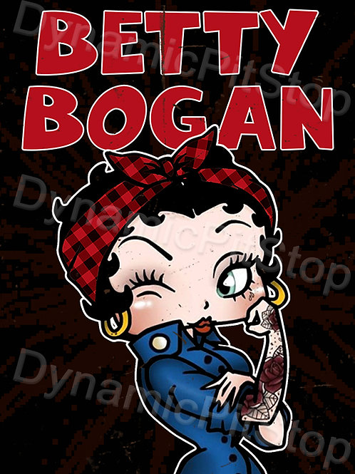 30x40cm Betty Boop Bogan Decal or Tin Sign