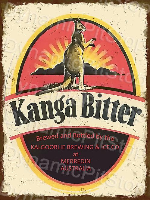 30x40cm Kanga Bitter Rustic Decal or Tin Sign