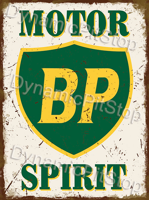 30x40cm BP Motor Rustic Decal or Tin Sign