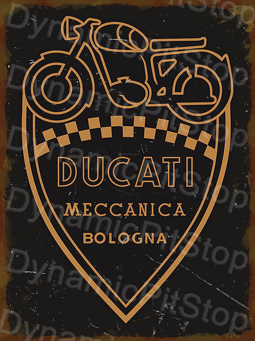 30x40cm Ducati Motorcycle Logo Rustic Decal or Tin Sign