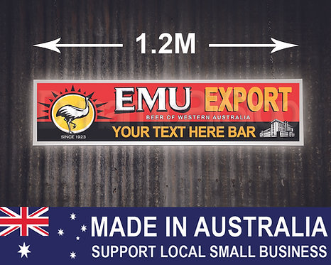 Large Illuminated Emu Export Custom Bar Sign