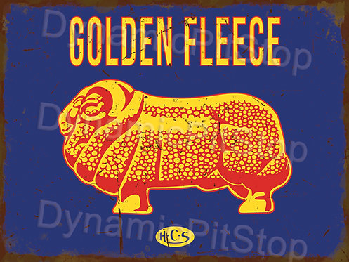 40x30cm Golden Fleece Rustic Decal or Tin Sign