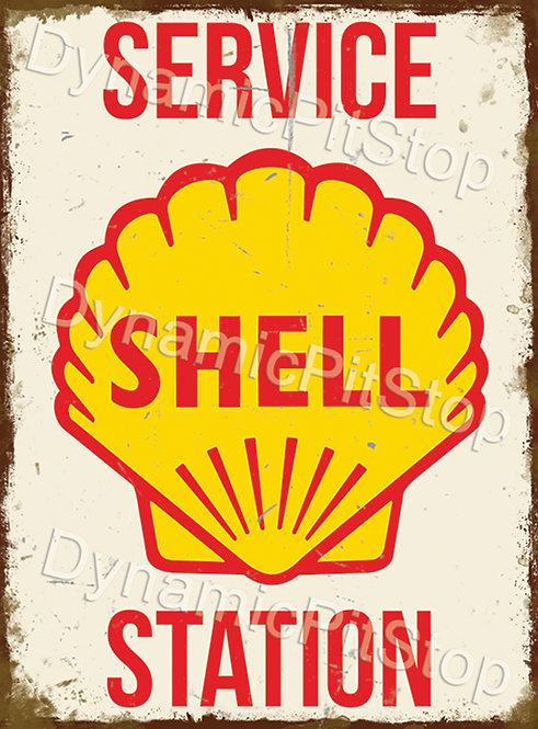 30x40cm Shell Service Station Decal or Tin Sign