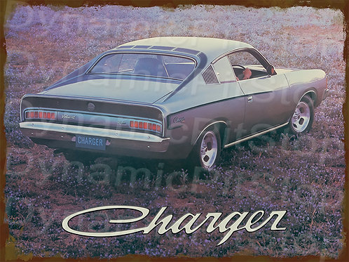 40x30cm Charger VJ 1973 Rustic Decal or Tin Sign