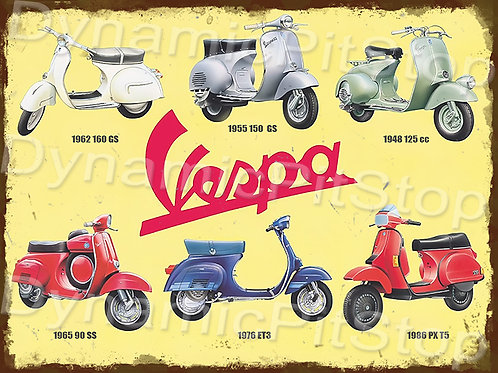 40x30cm Vespa Rustic Decal or Tin Sign