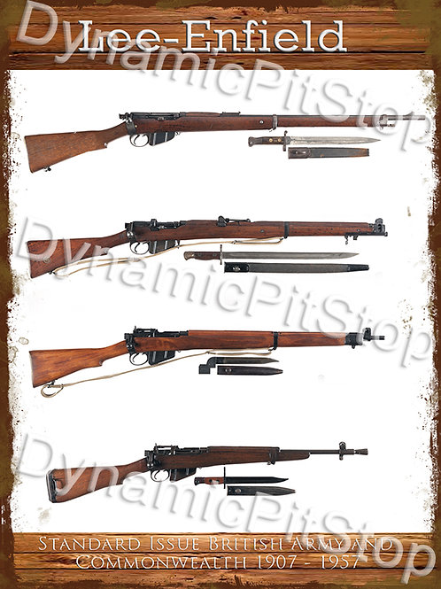 30x40cm Lee-Enfield Standard Issue 1907-1957 Rustic Decal or Tin Sign