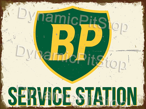 40x30cm BP Service Station Rustic Decal or Tin Sign