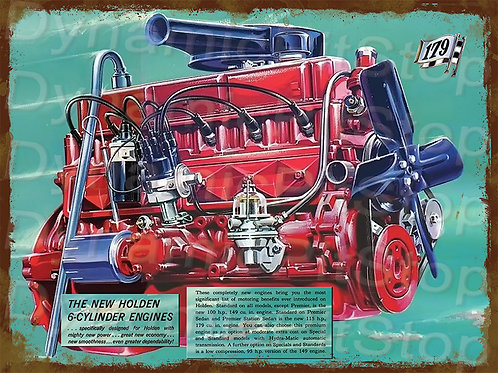 40x30cm Holden 1979 EH Motor Rustic Decal or Tin Sign