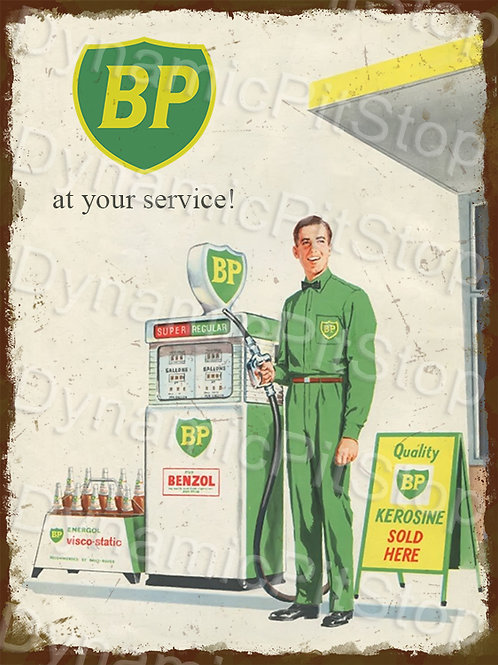 30x40cm BP Bowser Service Rustic Decal or Tin Sign
