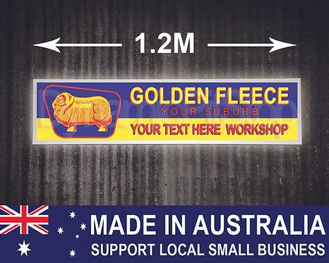 Large Illuminated Golden Fleece Custom Workshop Sign