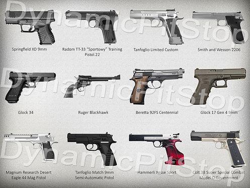40x30cm Multiple Guns Decal or Tin Sign