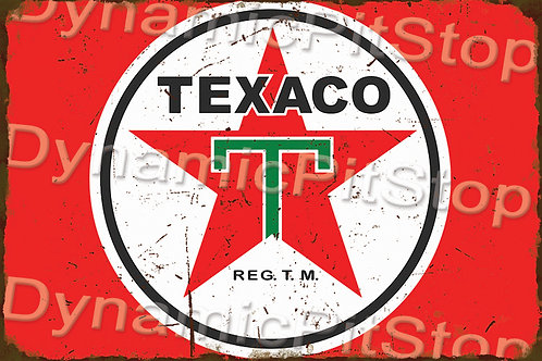 60x40cm Texaco Logo Rustic Decal or Tin Sign