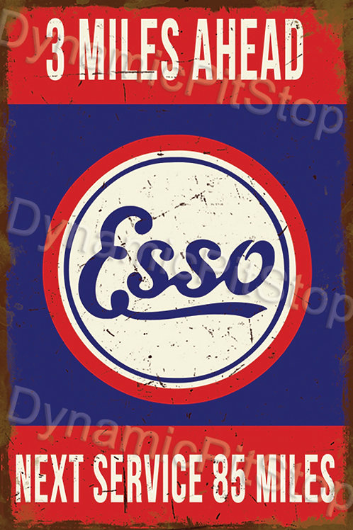 40x60cm Esso Next Service Rustic Decal or Tin Sign