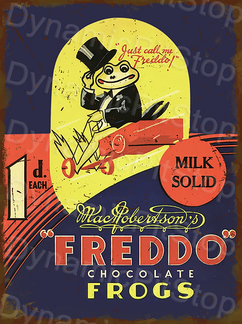 30x40cm Freddo Frog Rustic Decal or Tin Sign