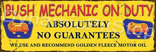 60x20cm Golden Fleece Bush Mechanic Rustic Decal or Tin Sign