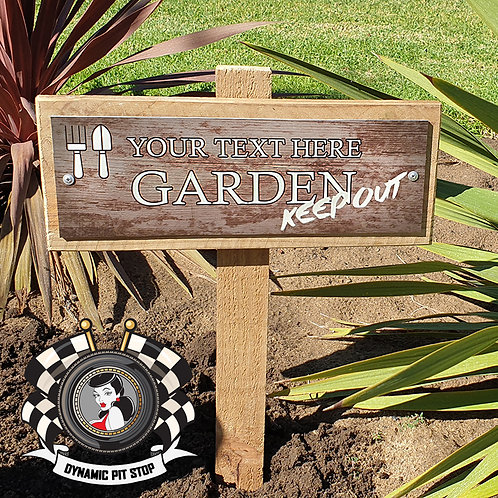 Custom Garden Sign - Keep out