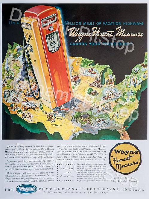 30x40cm Wayne Bowser Vintage Ad Decal or Tin Sign