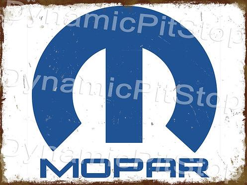 40x30cm Mopar Logo Rustic Decal or Tin Sign