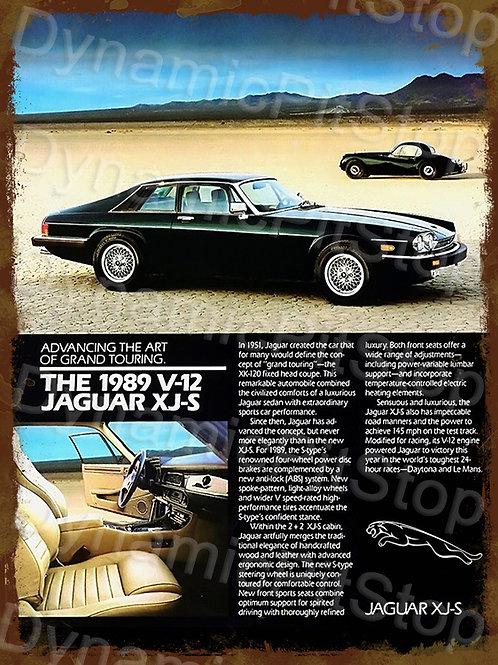 30x40cm Jaguar XJ-S Rustic Decal or Tin Sign