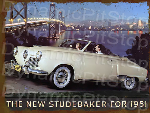 40x30cm Studebaker 1951 Rustic Decal or Tin Sign