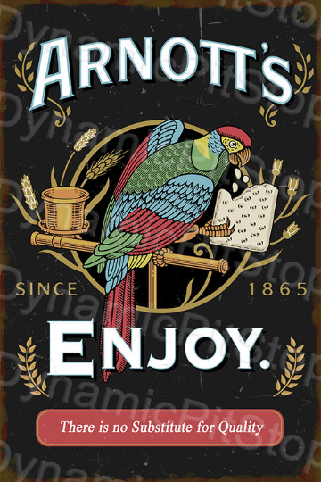40x60cm Arnotts Rustic Decal or Tin Sign