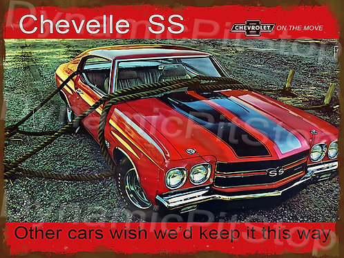 40x30cm Chevelle SS Rustic Decal or Tin Sign