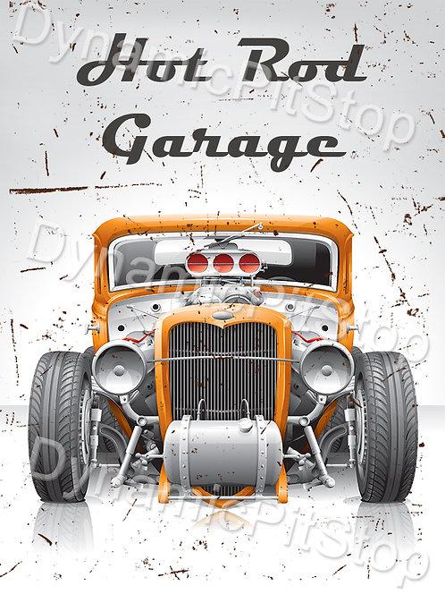 30x40cm Hot Rod Garage Decal or Tin Sign
