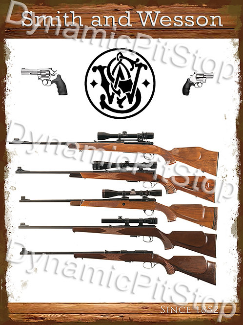 30x40cm Smith & Wesson Rustic Decal or Tin Sign