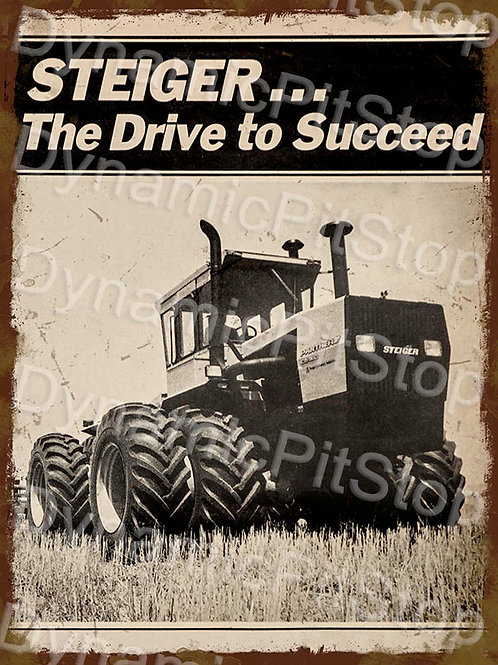 30x40cm Steiger Tractor Rustic Decal or Tin Sign